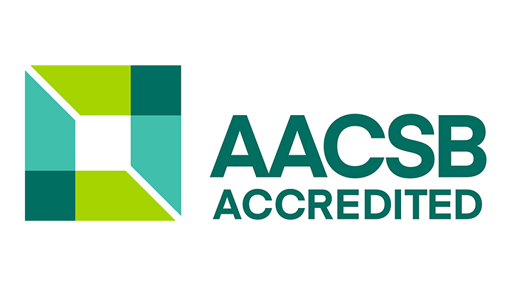 The AACSB accreditation logotype.