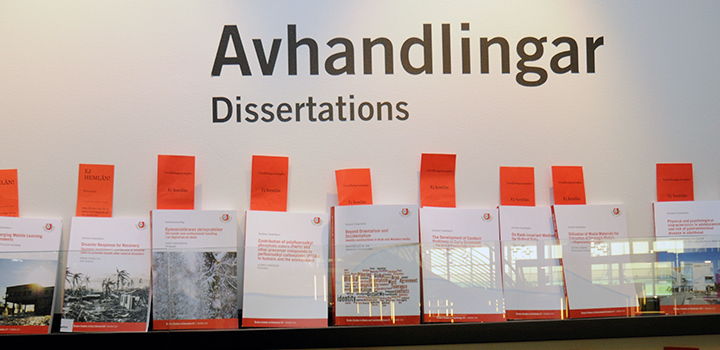 Shelf with dissertations