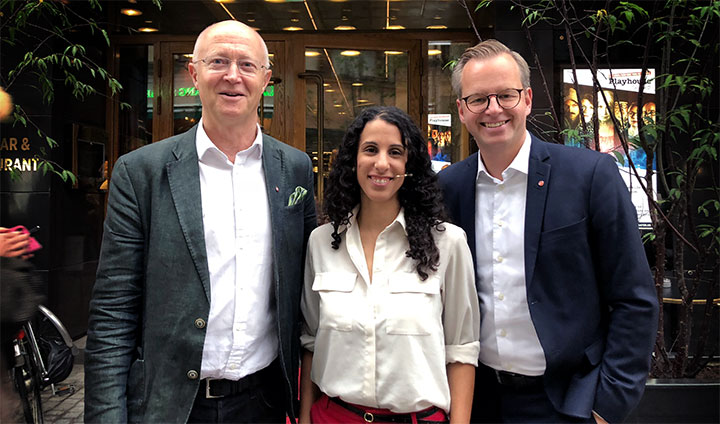 Johan Schnürer, Amy Loutfi and Mikael Damberg.