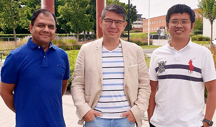 Tre forskare utanför Örebro universitet.