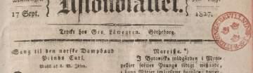 Bild på en tidining från 1800-talet